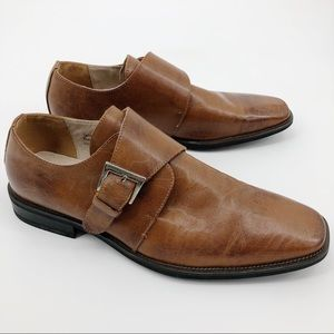 Fratelli Rossetti Leather Buckle Dress Shoes Brown